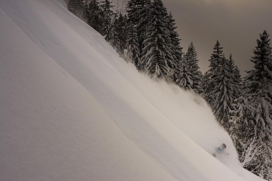 Early season powder on Grands Montets