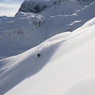 Pre-season powder on the smooth hills in St Anton am Arlberg winter 12/13