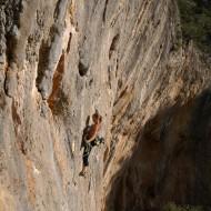 Climbing at Cala Fuili, Cala Gonone
