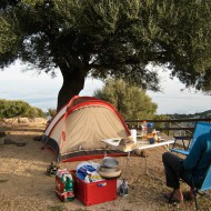 Camping at Agriturismo above Cala Gonone