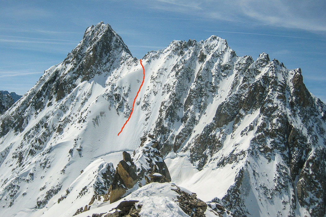 And view onto the east face of Col Sup de Tour Noir, new plans are being made already!