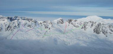 Topo of Aiguilles Rouges Ski Tours