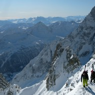 The view of the Italian Alps confirms that the season is here!