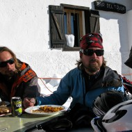 Outstanding pasta at Bar del Toula with the Chamonix bandit crew