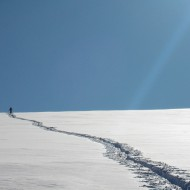 Skinning towards Col d'Entreve