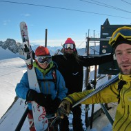 Eva, Kaj and Jimmy at Punta Helbronner