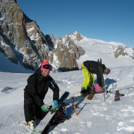 Skis on the pack at Col d'Entreve