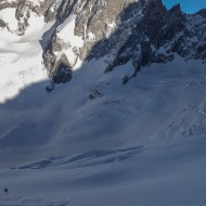Skiing the Mallet glacier behind Breche Puiseux