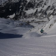 John setting off towards Le Tour glacier
