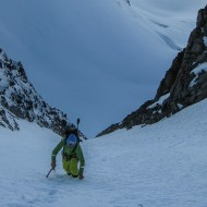 2 hours of skinning, then climbing up a small colouir