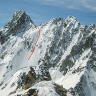 From Grand Lui we could see well over to where we are now having our second breakfast and the face we will ski