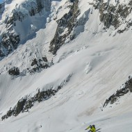 with Aiguille d'Amône and Mont Dolent in the background
