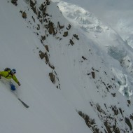 Skiing Cosmiques Couloir