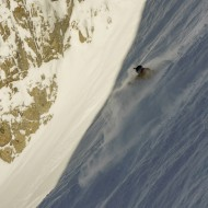 Fluffy snow in Cosmiques Couloir