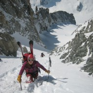 2/3 of the way up to Aig d'Argentiere