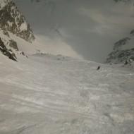 800m of 45 degree steep skiing