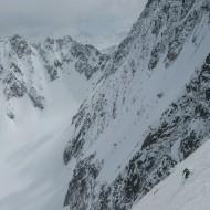 Half way down to the Saleina glacier
