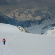 Up the Saleina glacier towards Col de Chardonnet