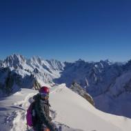 Skiing Grand Envers, Aig du Midi