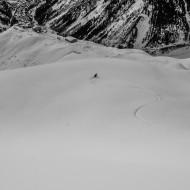 Helbronner powder skiing