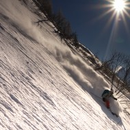 Skiing Poussettes in Vallorcine