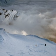 Skiing Pas de Chevre
