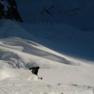 Perfect snow on Petite Envers
