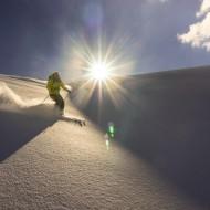 Cold powder on Glacier de Bron