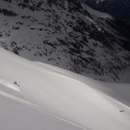Cold and light snow in Vallon de Berarde