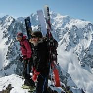Ski touring Aig Rouges, Glacier du Mort