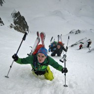 Bootpack up to Col de Crouchues