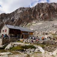Mountaineering from Almageller hutte, Saastal, Switzerland