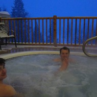 Deep in the hot tub