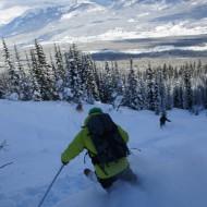 We keep on skiing deep powder