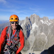 Looking east from the summit over to Aiguille Vert