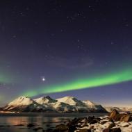 Northern lights in Lyngen Alps