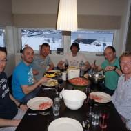Jaegervatnet house and fresh shrimps delivered