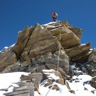 Getting to rockier sections on Cresta Sella