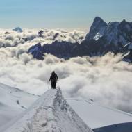 The famous snow ridge