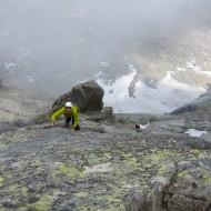 Multi-pitch alpine rock
