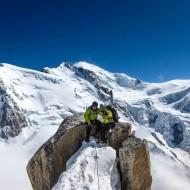 Proud couple after climbing Cosmiques ridge