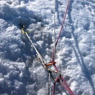 Belay anchor in ice