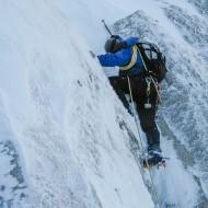 Alpine mixed climbing