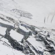 Open summer glaciers