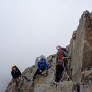 The team this week on a multi-pitch trad climb