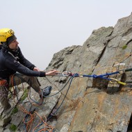 Climbing on traditional gear