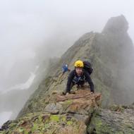 Steeper rocky climb