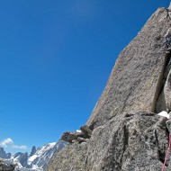 Getting closer to the summit of Aig du Plan