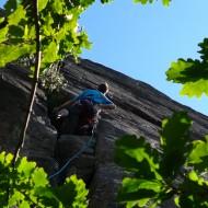 Hallinden crag in Bohuslan
