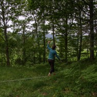 Slackline at Linus and Claires place